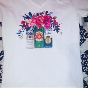 T-shirt Floral Beer can